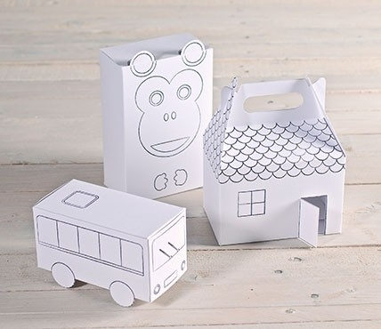 Colour-in gift boxes