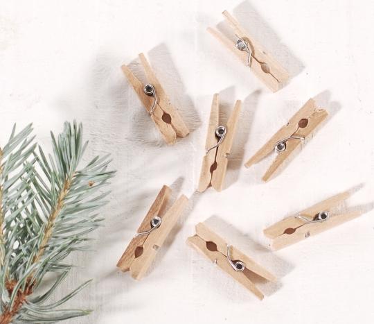 Pinzas de madera mini