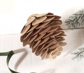 Decorative cardboard pine cone