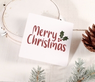 Merry Christmas square label