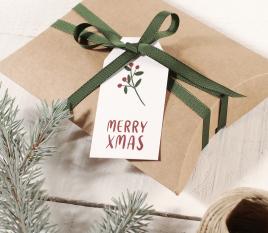 Pack di etichette natalizie