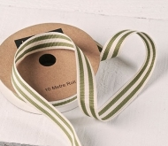 Green stripe Grosgrain Ribbon