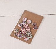 Romantic wooden buttons
