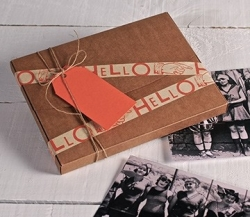 Brown kraft box for photos