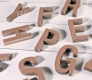 Small Uppercase Cardboard Letters