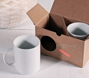 Scatola in cartone per due tazze