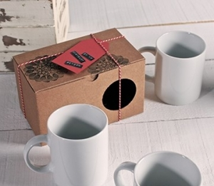 Schlichte Tassenverpackung