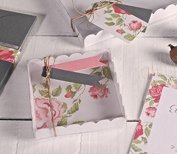 Cajas transparentes para detalles de boda