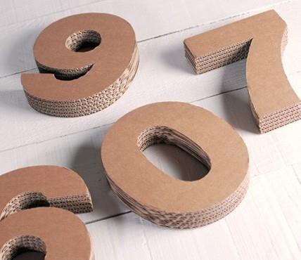 Cardboard Numbers