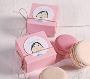 Cajas para un macaron individual