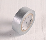 Silbernes Washi Tape MT