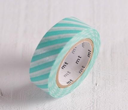 Washi tape turquoise lines
