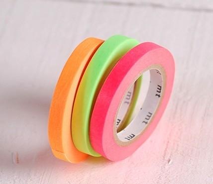 3 leuchtfarbene Washi Tapes