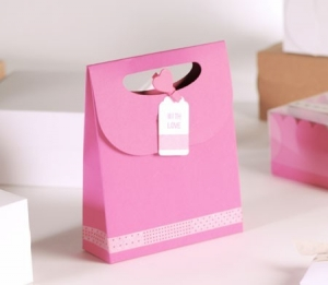 "Bolsa regalo rosa ""with love"""