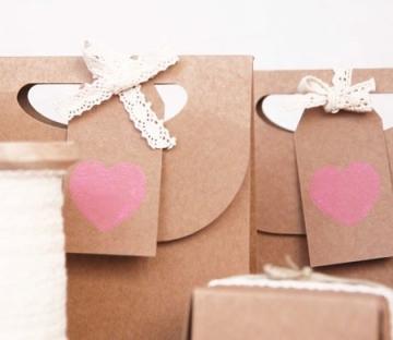 Bolsita en kraft para San Valentín