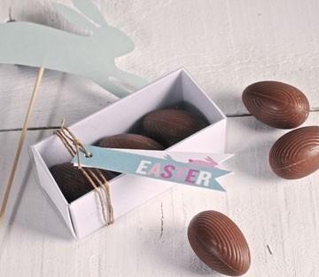 Caja rectangular para huevos de Pascua