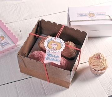 Cajas altas para cuatro cupcakes