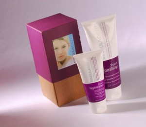 Bicolour gift box for cosmetics