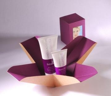Scatola regalo bicolore per cosmetici