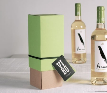 Bicolour gift box for wine