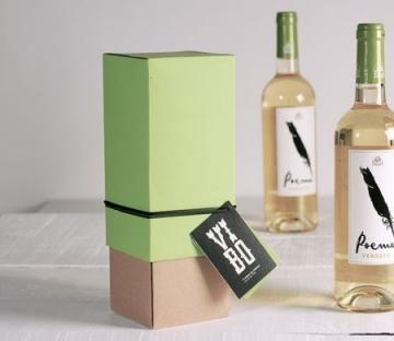 Caja regalo bicolor para vinos
