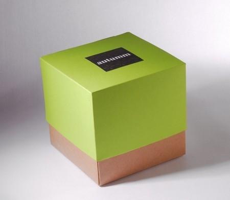 Caja bicolor verde para regalo