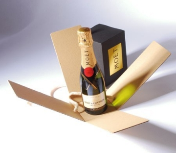 Scatola per bottiglia mignon di champagne