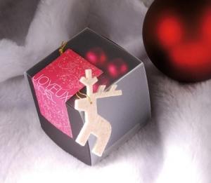 Cajita cuadrada para regalar en Navidad