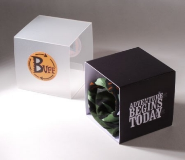 Semi-transparent box for promotional gifts
