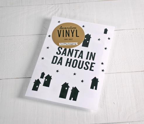 """Adesivi decorativi in vinile """"Santa in da house"""""""