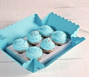 Cajas para 6 cupcakes altos