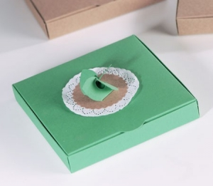 Gift box with a flower blade pattern