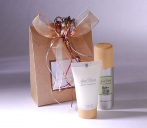 Kraft gift bag for cosmetics