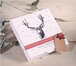 Caja regalo impresa con reno