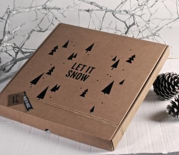 Caja de pizzas con vinilo decorativo