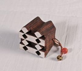 Geometric woodblock stamp 2