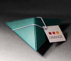 Caja triangular para pequeños obsequios