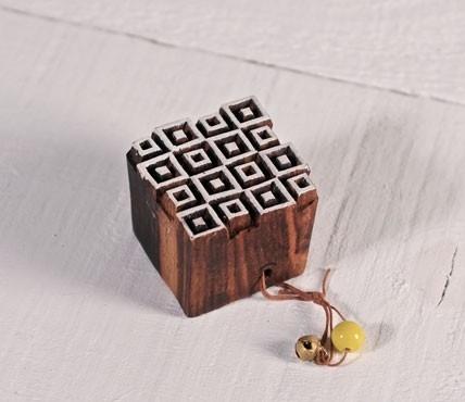 Geometric woodblock stamp 3