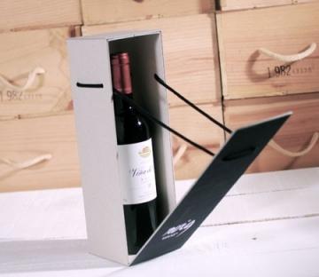 Resistant gift box for bottles