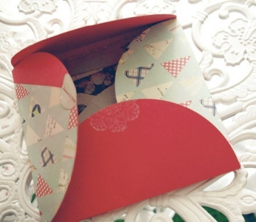 Box decorated with scrapbooking