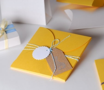 Handmade christening invitations