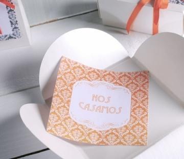 Handgemachte Hochzeitseinladung