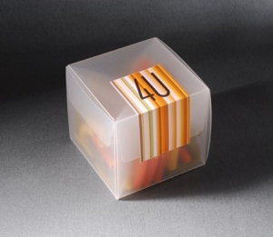 Semi-transparent gift box for events