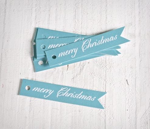 Kit Etiquetas Banderola Merry Christmas