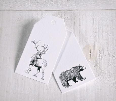 Kit de Etiquetas Reno y Oso