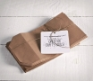 Pack von 20 zylindrischen Papiertüten in Kraft-Farbe