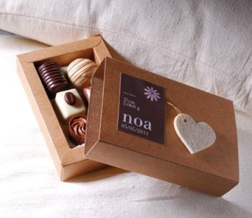 Little box for christening invitation