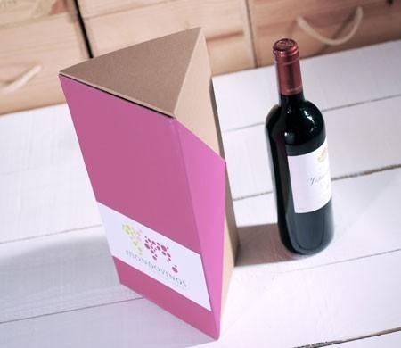 Caja para vinos de cartón