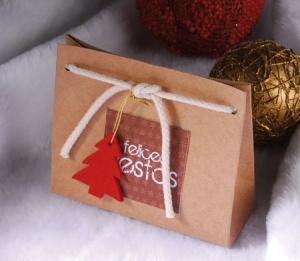 Bolsa con cordón para Navidad