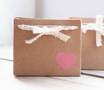 Kraft gift bag for wedding invitations